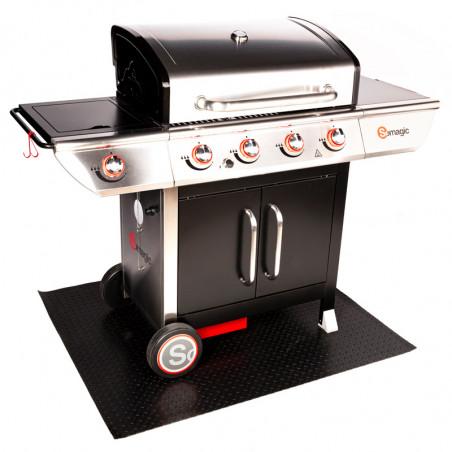 Tapis de protection pour barbecue gaz