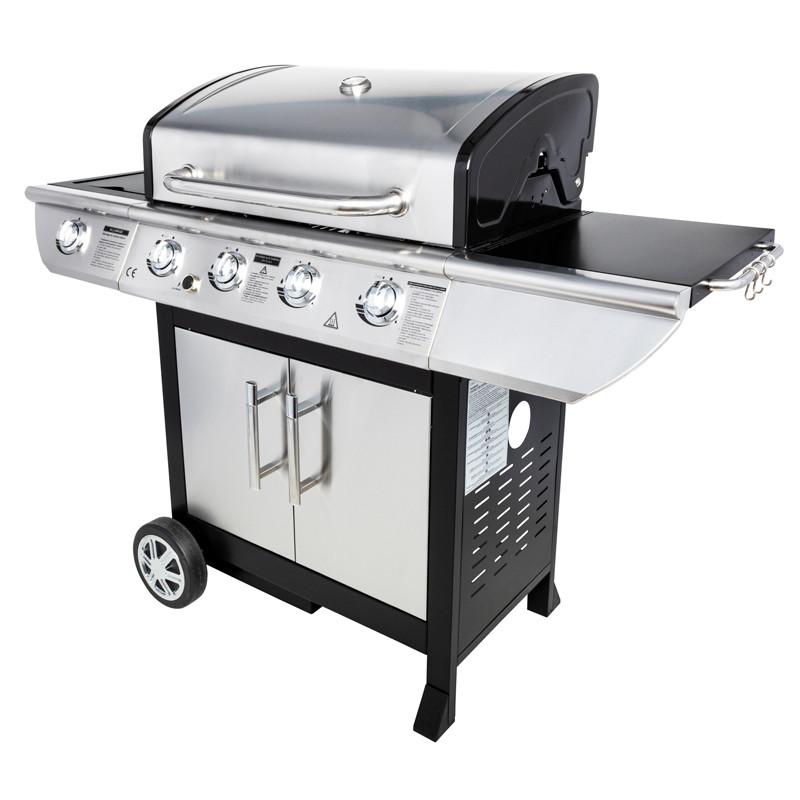 Barbecue gaz avec couvercle de cuisson