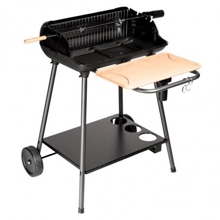 Barbecue charbon de bois cuisson rôtissoire