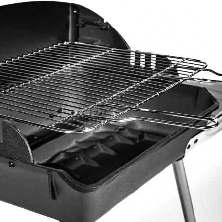 Grille pour cuisson horizontale du barbecue charbon de bois