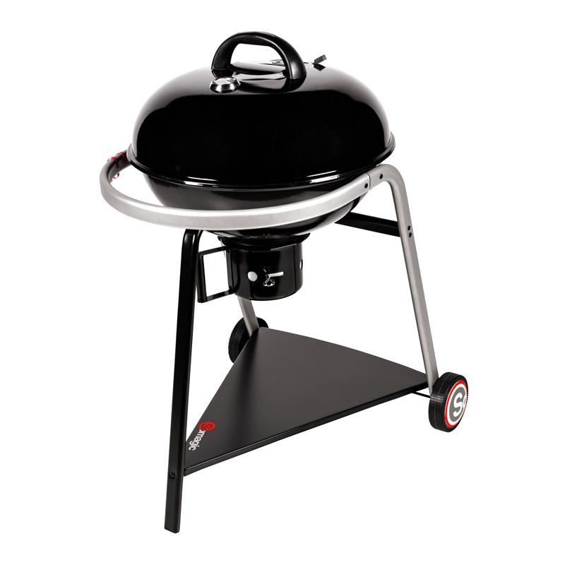 Barbecue charbon de bois avec foyer horizontal