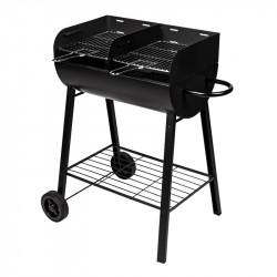 Barbecue charbon de bois avec double foyer