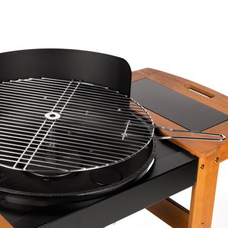 Grille de cuisson pivotante du barbecue charbon de bois