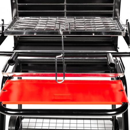 Bras de guidage du barbecue charbon de bois