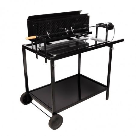Rôtissoire charbon de bois et bois cuisson grill