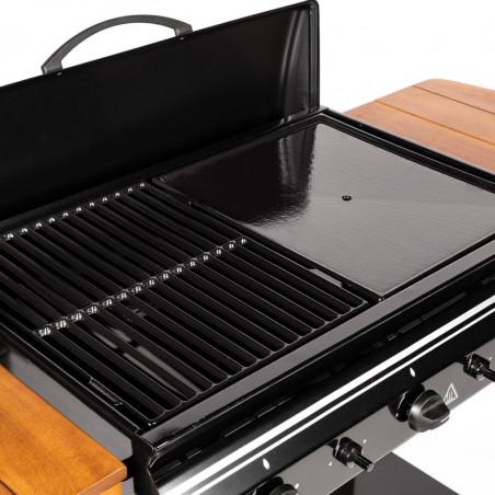 Grille et plaque de cuisson en fonte émaillée du barbecue gaz