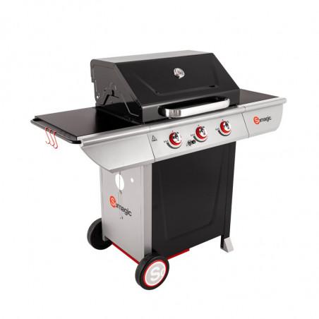 Barbecue gaz avec couvercle de cuisson fermé
