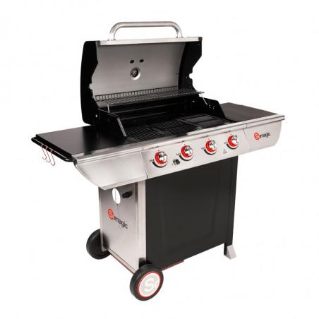 Barbecue gaz cuisson grill, au four et à la plancha
