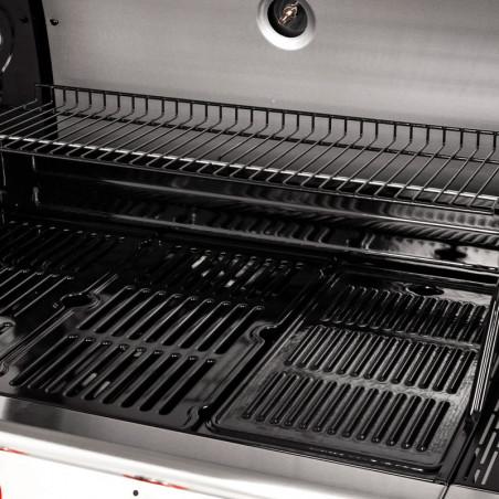 Grilles et plaque de cuisson du barbecue gaz