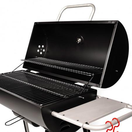 Grille de maintien au chaud du barbecue charbon de bois
