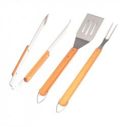 Fourchette, pince, spatule pour barbecue et plancha