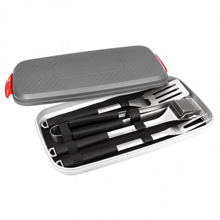Valisette de 4 accessoires pour barbecue charbon de bois et barbecue gaz