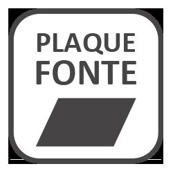 Plaque en fonte
