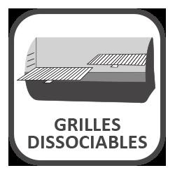 Grilles dissociables